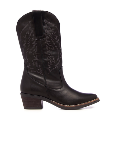 Dark Night Texan Leather Boots