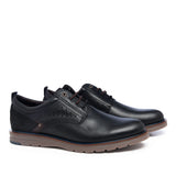 Leather Men-Dark Night Sport Leather Oxfords by Ethical & Sustainable Fashion Brand Mamahuhu