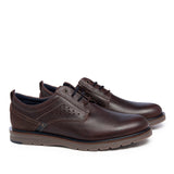 Leather Men-Chocolate Sport Leather Oxfords by Ethical & Sustainable Fashion Brand Mamahuhu