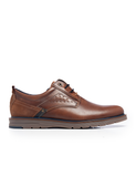 Leather Men-Cognac Sport Leather Oxfords by Ethical & Sustainable Fashion Brand Mamahuhu