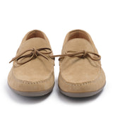 Leather Men-Sand Leather Moccasins by Ethical & Sustainable Fashion Brand Mamahuhu