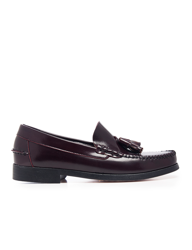 Leather Men-Bordeaux Leather Moccasins by Ethical & Sustainable Fashion Brand Mamahuhu
