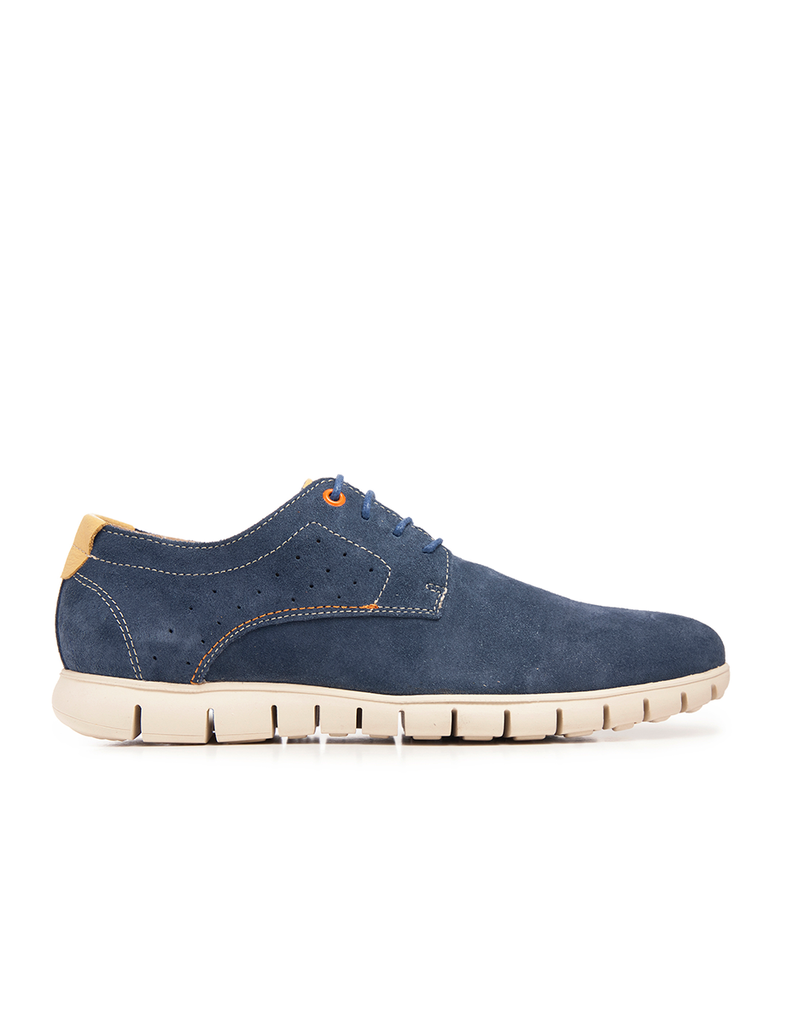 Leather Men-Sapphire Leather Sneakers by Ethical & Sustainable Fashion Brand Mamahuhu