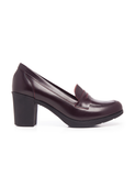 Leather Women-Bordeaux Leather High Heels by Ethical & Sustainable Fashion Brand Mamahuhu