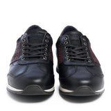 Leather Men-Dark Night Leather Sneakers by Ethical & Sustainable Fashion Brand Mamahuhu
