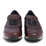 Leather Men-Chocolate Leather Sneakers by Ethical & Sustainable Fashion Brand Mamahuhu