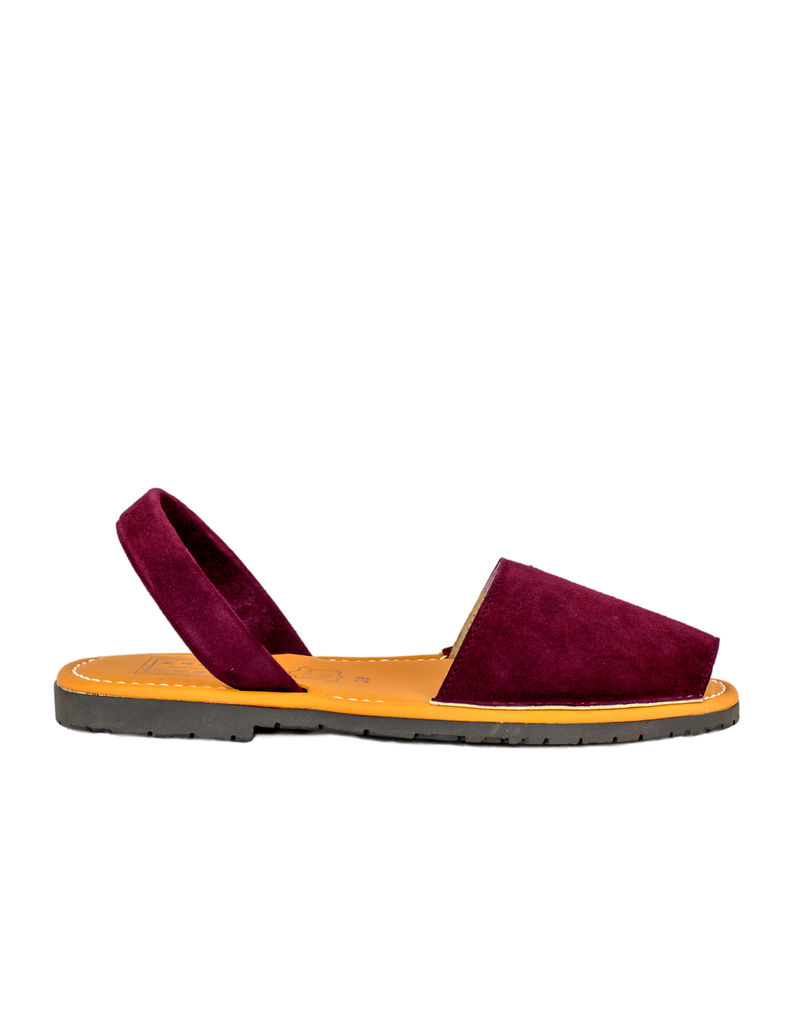 Menorquina Red Wine Suede Flat