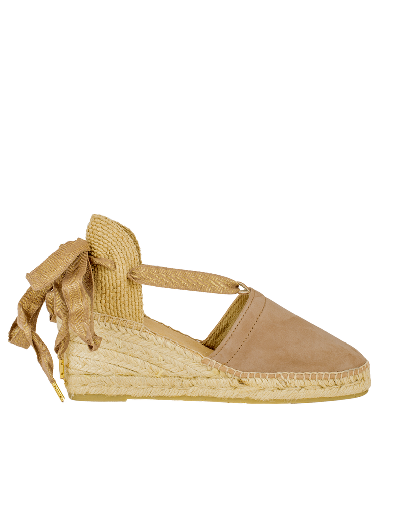 Espadrilles Tan Leather Valencia