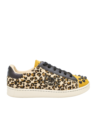 Leather Women-Ethical Sneakers Leopard by Ethical & Sustainable Fashion Brand Mamahuhu