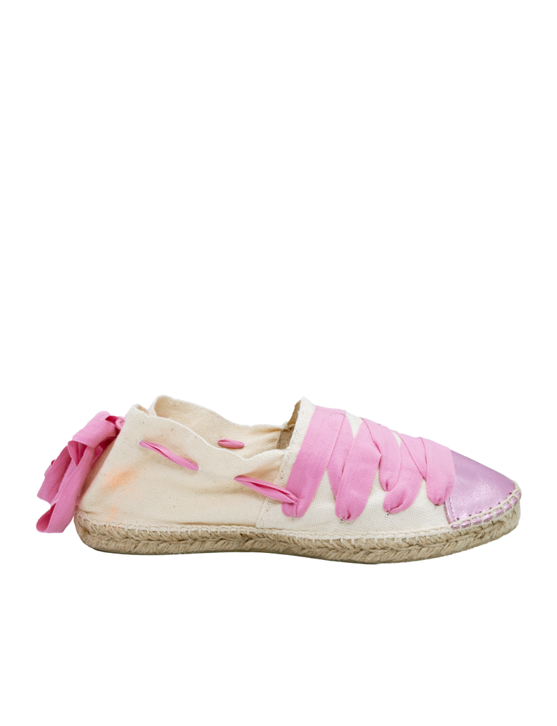 Espadrilles Women-Catalan Metalic-Pink Traditional by Ethical & Sustainable Fashion Brand Mamahuhu
