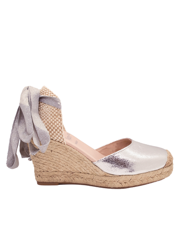 Espadrilles Women-Espadrilles Silver Night by Ethical & Sustainable Fashion Brand Mamahuhu