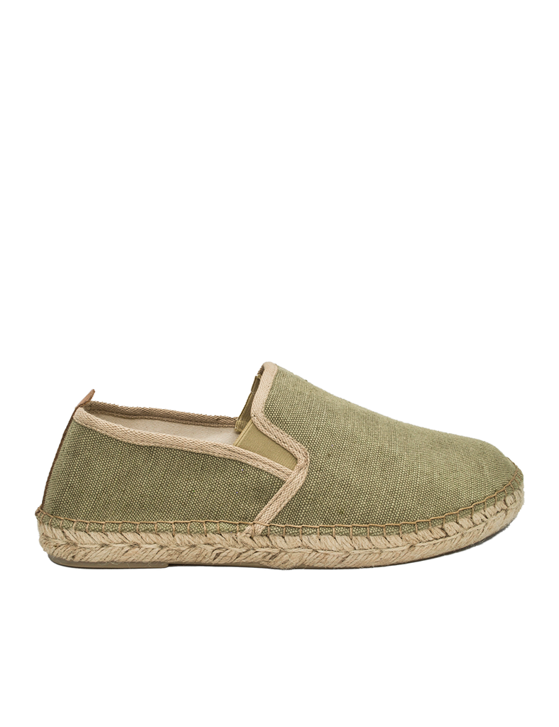 Espadrilles Men-Espadrilles Slip-on Olive by Ethical & Sustainable Fashion Brand Mamahuhu
