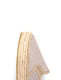 Espadrilles Women-Espadrilles Flat Wedge Champagne by Ethical & Sustainable Fashion Brand Mamahuhu
