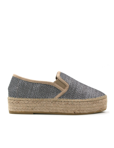Espadrilles Women-Espadrilles Flat Wedge Metallic by Ethical & Sustainable Fashion Brand Mamahuhu