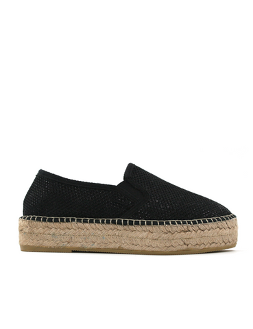 Espadrilles Women-Espadrilles Flat Wedge Night by Ethical & Sustainable Fashion Brand Mamahuhu