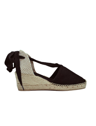Espadrilles Women-Espadrilles Black Valencia Heel by Ethical & Sustainable Fashion Brand Mamahuhu