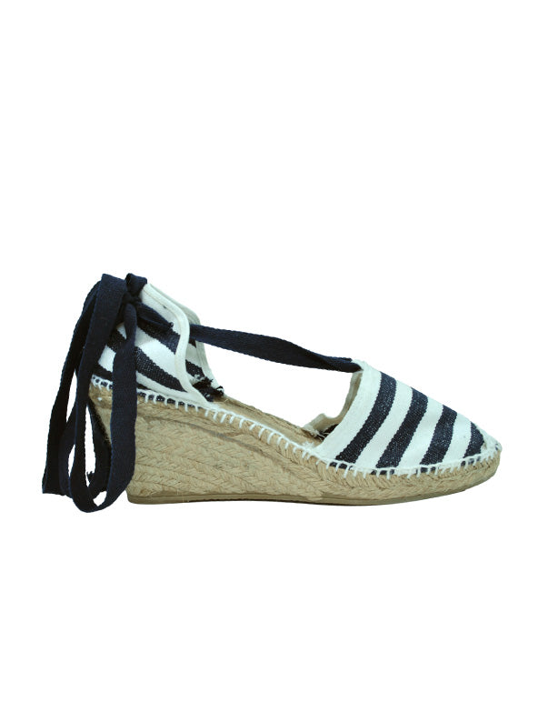 Espadrilles Women-Espadrilles Traditional Sailor Wedge by Ethical & Sustainable Fashion Brand Mamahuhu