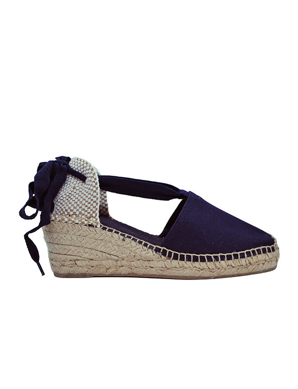 Espadrilles Women-Espadrilles Navy Blue Valencia by Ethical & Sustainable Fashion Brand Mamahuhu