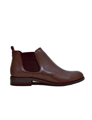 Leather ankle boots-Chestnut Chelsea by Ethical & Sustainable Fashion Brand Mamahuhu