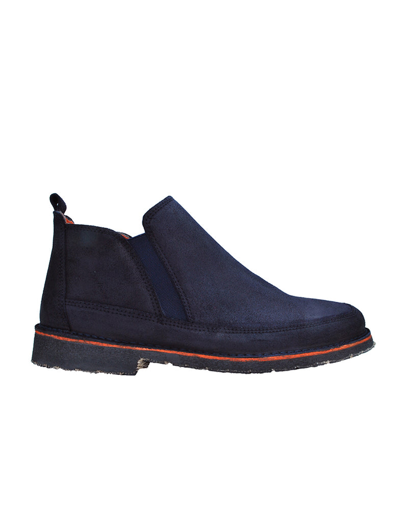 -Navy Blue Chelsea Moccasin by Ethical & Sustainable Fashion Brand Mamahuhu