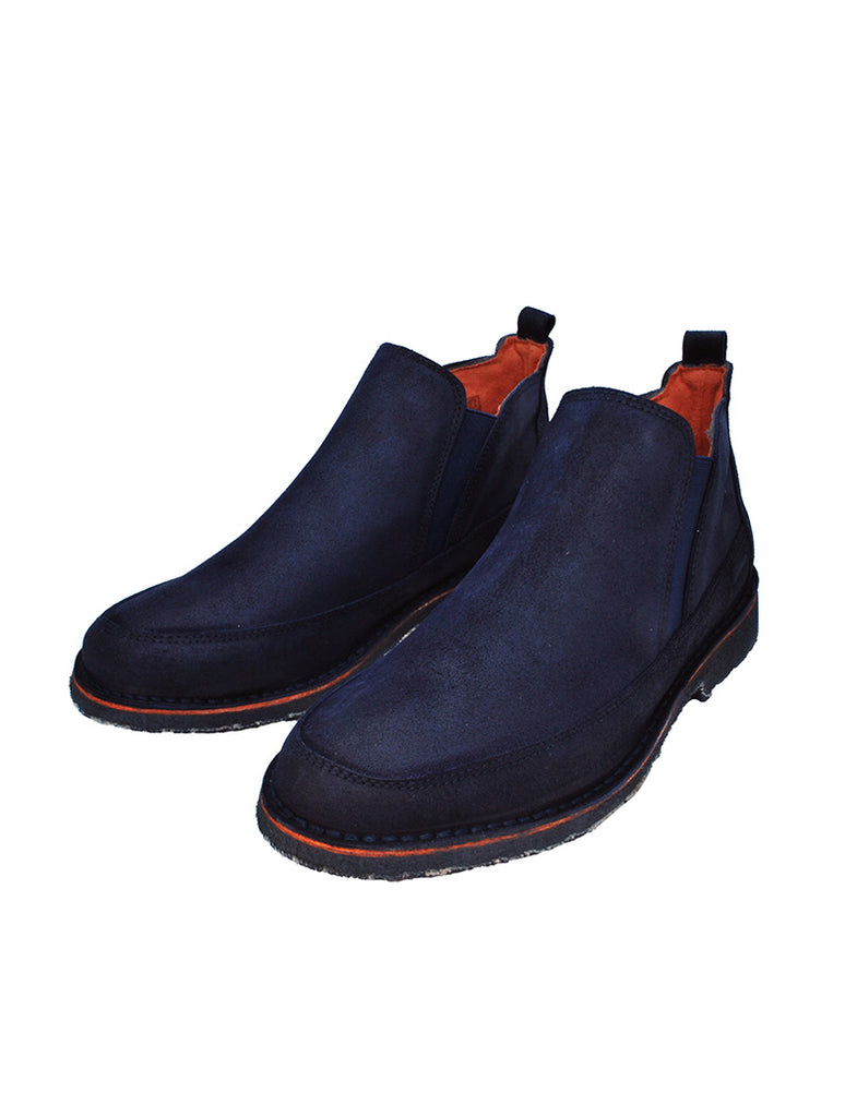 Deals-Navy Blue Chelsea Moccasin by Ethical & Sustainable Fashion Brand Mamahuhu