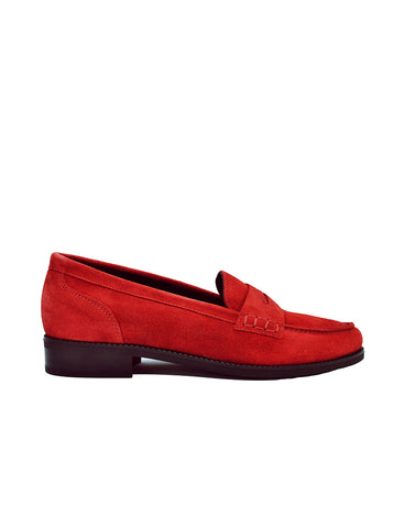Deals-Red Velvet Moccasin by Ethical & Sustainable Fashion Brand Mamahuhu