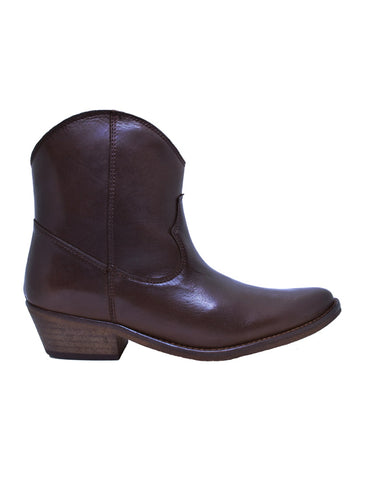 Boots-Texan Chocolate Leather Boots by Ethical & Sustainable Fashion Brand Mamahuhu