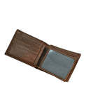 Wallets-Brown Bifold Wallet by Ethical & Sustainable Fashion Brand Mamahuhu