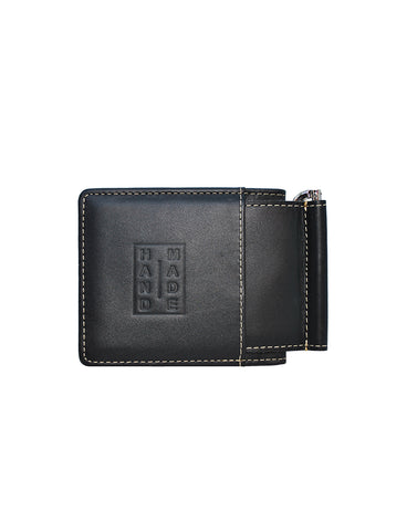 Wallets-Money Clip Wallet 2in1 Black by Ethical & Sustainable Fashion Brand Mamahuhu