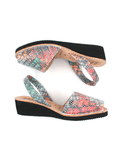 Leather Sandal-Menorquina Gaudí Heel by Ethical & Sustainable Fashion Brand Mamahuhu
