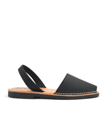 Leather Sandal-Menorquina Night Flat by Ethical & Sustainable Fashion Brand Mamahuhu