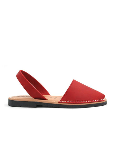 Leather Sandal-Menorquina Ruby Flat by Ethical & Sustainable Fashion Brand Mamahuhu