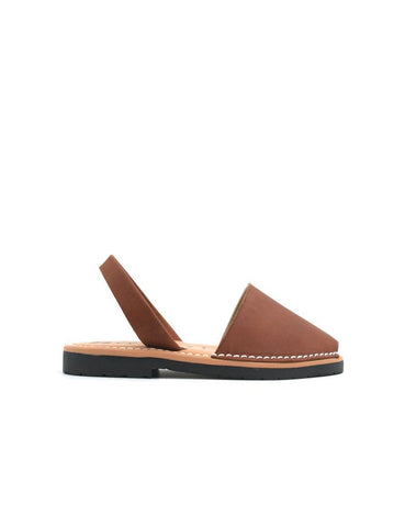 Leather Sandal-Menorquina Chocolate Baby by Ethical & Sustainable Fashion Brand Mamahuhu
