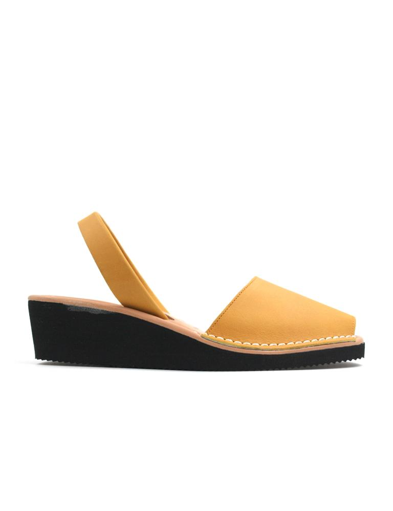 Leather Sandal-Menorquina Sun Heel by Ethical & Sustainable Fashion Brand Mamahuhu