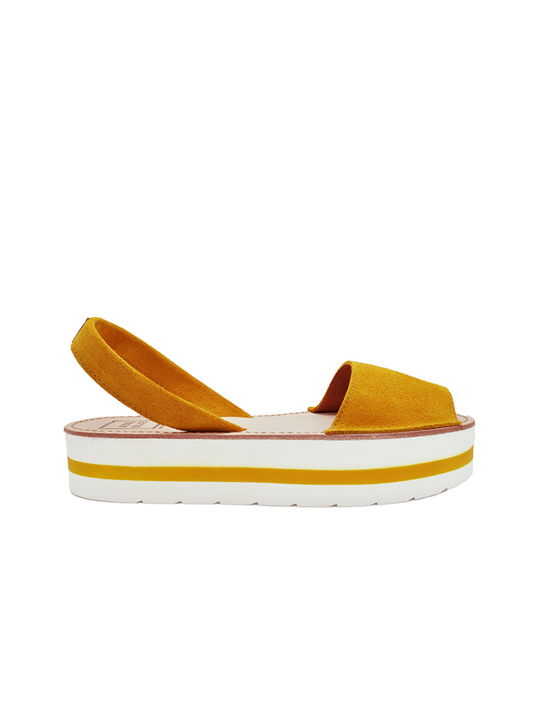 Leather Sandal-Menorquina Sunrise Platform by Ethical & Sustainable Fashion Brand Mamahuhu