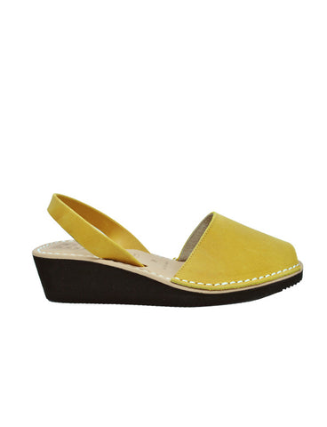 -Menorquina Wax Safron Heel by Ethical & Sustainable Fashion Brand Mamahuhu