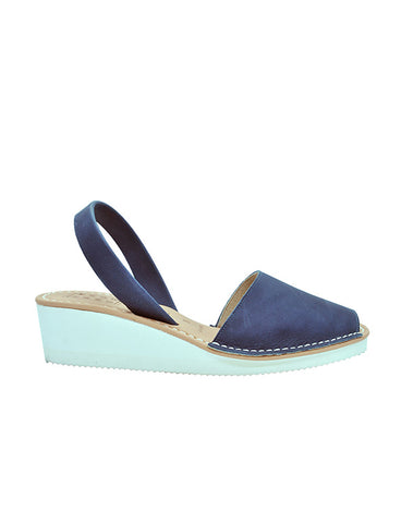 -Menorquina Navy Blue Heel by Ethical & Sustainable Fashion Brand Mamahuhu
