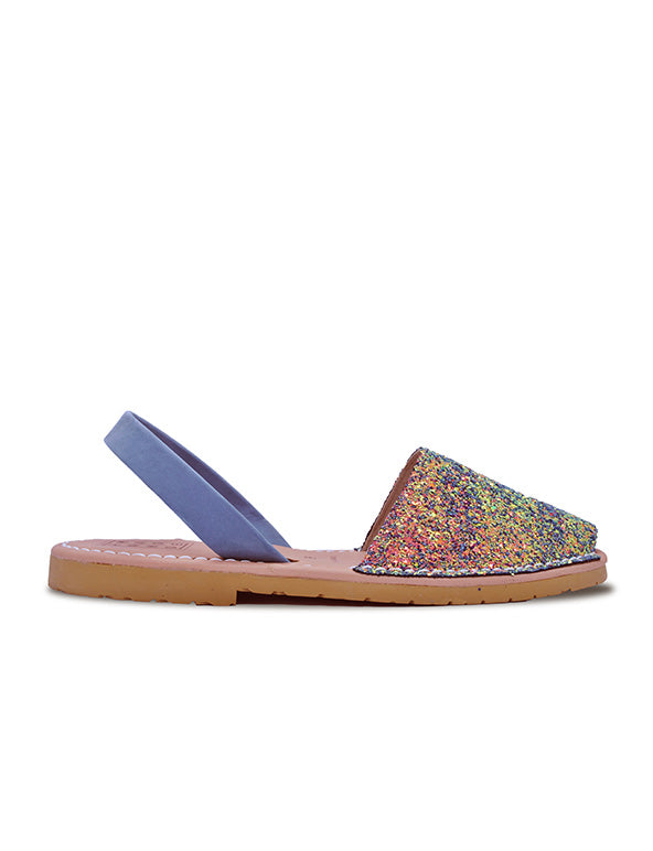 Leather Sandal-Menorquina Little Mermaid Flat by Ethical & Sustainable Fashion Brand Mamahuhu