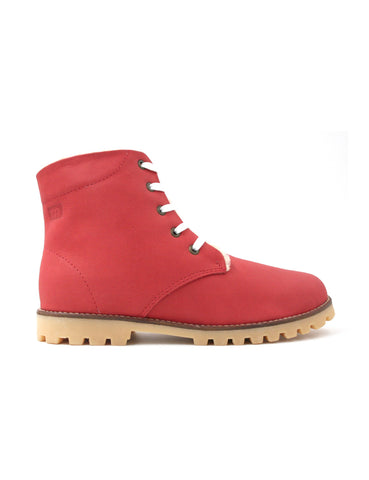 Leather boots-Nevaditas Cherry Winter by Ethical & Sustainable Fashion Brand Mamahuhu