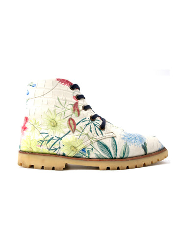 Leather boots-Nevaditas Floral by Ethical & Sustainable Fashion Brand Mamahuhu