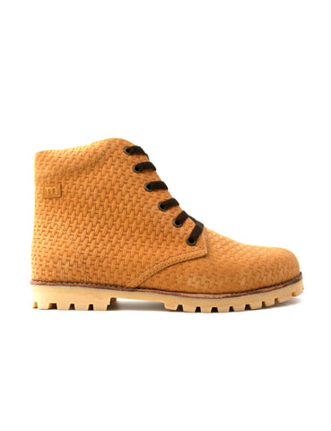 Leather boots-Nevaditas Honey Braid by Ethical & Sustainable Fashion Brand Mamahuhu