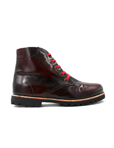 Leather boots-Nevaditas Riviera Wine by Ethical & Sustainable Fashion Brand Mamahuhu