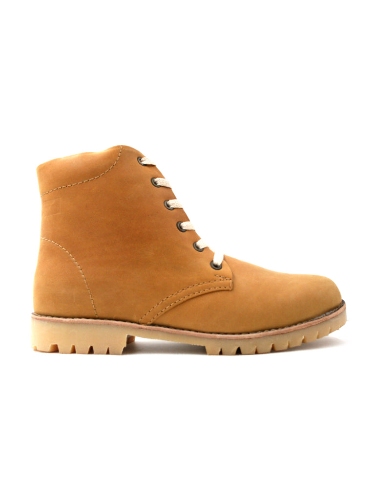 Leather boots-Nevaditas Honey by Ethical & Sustainable Fashion Brand Mamahuhu