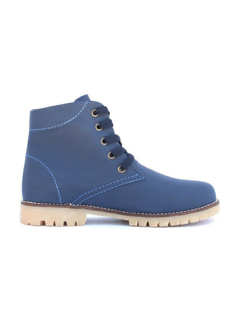 Leather boots-Nevaditas Sapphire by Ethical & Sustainable Fashion Brand Mamahuhu