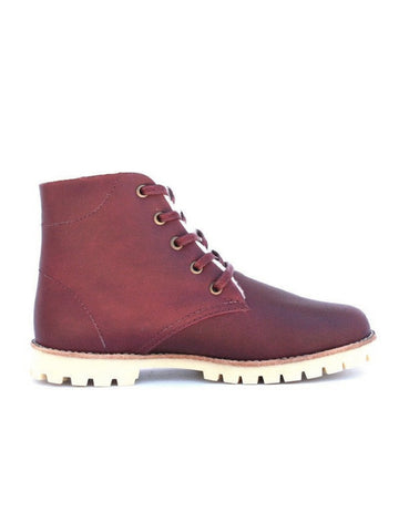Leather boots-Nevaditas Wine Winter by Ethical & Sustainable Fashion Brand Mamahuhu