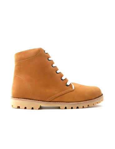 Leather boots-Nevaditas Honey Winter by Ethical & Sustainable Fashion Brand Mamahuhu