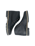 Leather boots-Nevaditas Deep Ocean Braid by Ethical & Sustainable Fashion Brand Mamahuhu