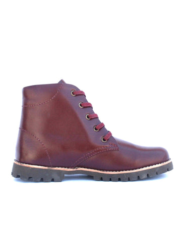 Leather boots-Nevaditas Wine by Ethical & Sustainable Fashion Brand Mamahuhu