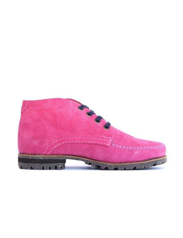 Leather ankle boots-Colorines Rosé by Ethical & Sustainable Fashion Brand Mamahuhu