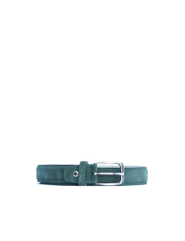 Leather Belt-Belt Emerald by Ethical & Sustainable Fashion Brand Mamahuhu